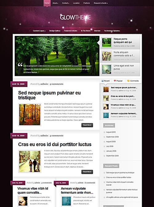 glow-wordpress-theme