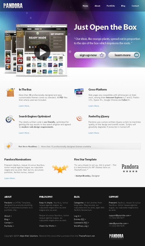 pandora-wordpress-theme