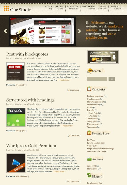 wordpress-gold-theme