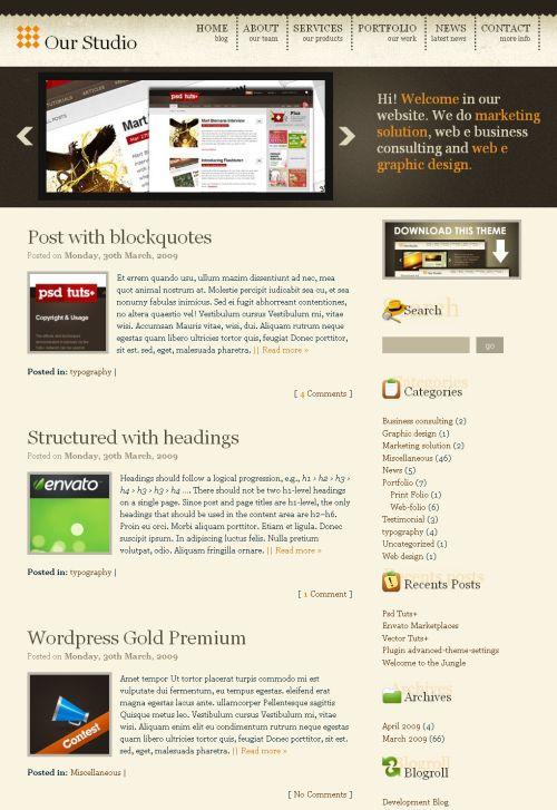 wordpress-gold-theme